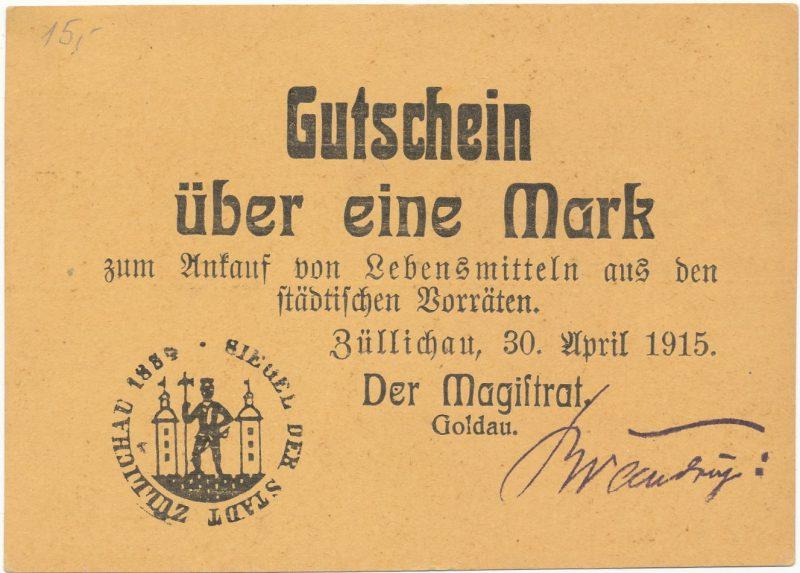 Notgeld 1 marka 1915 Sulechów
