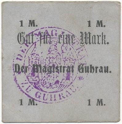 Notgeld 1 marka magistratu w Górze