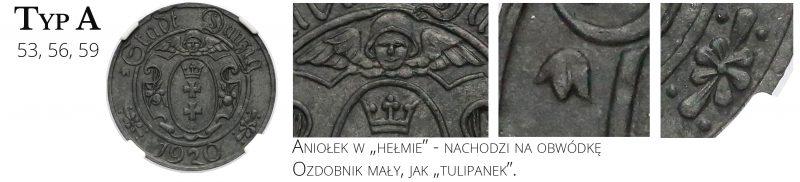 10 fenigów 1920 Gdańsk Typ A
