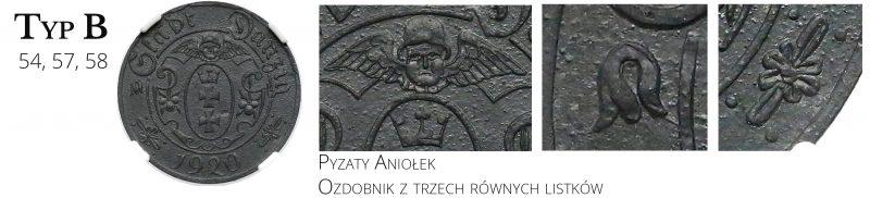 10 fenigów 1920 Gdańsk Typ B