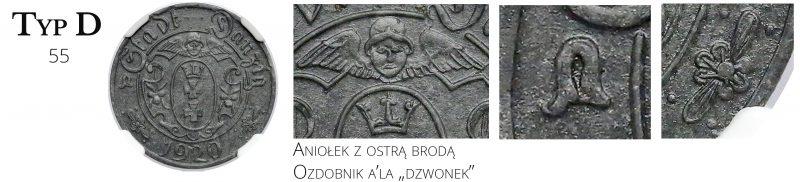 10 fenigów 1920 Gdańsk Typ D