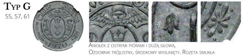 10 fenigów 1920 Gdańsk Typ G