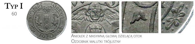 10 fenigów 1920 Gdańsk Typ I