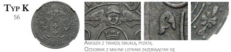 10 fenigów 1920 Gdańsk Typ K