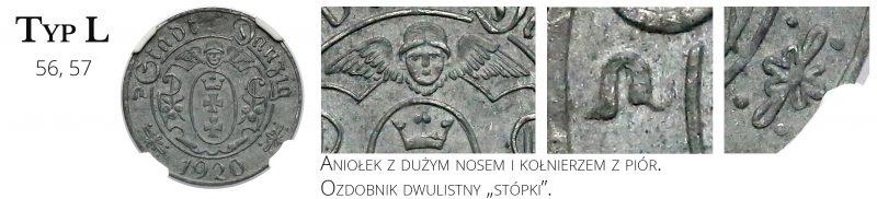 10 fenigów 1920 Gdańsk Typ L
