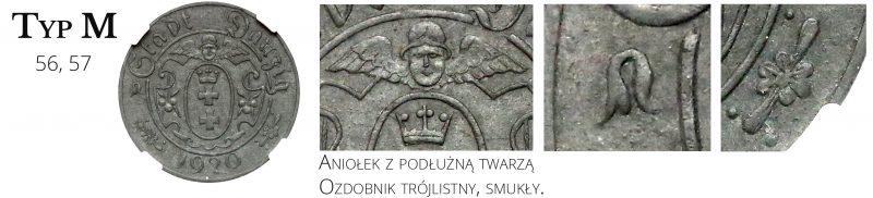 10 fenigów 1920 Gdańsk Typ M