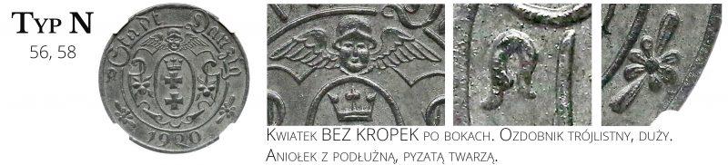 10 fenigów 1920 Gdańsk Typ N