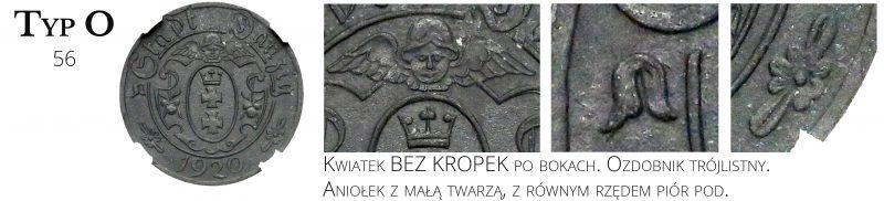 10 fenigów 1920 Gdańsk Typ O