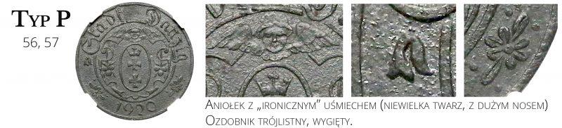 10 fenigów 1920 Gdańsk Typ P