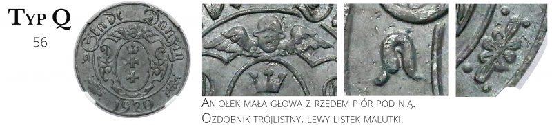 10 fenigów 1920 Gdańsk Typ Q
