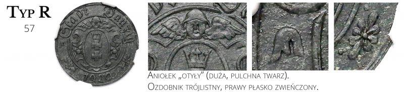 10 fenigów 1920 Gdańsk Typ R