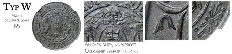 10 fenigów 1920 Gdańsk Typ W