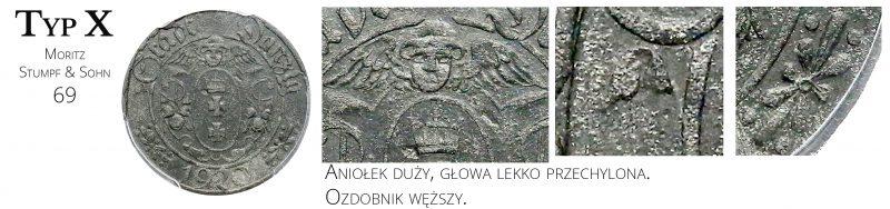 10 fenigów 1920 Gdańsk Typ X