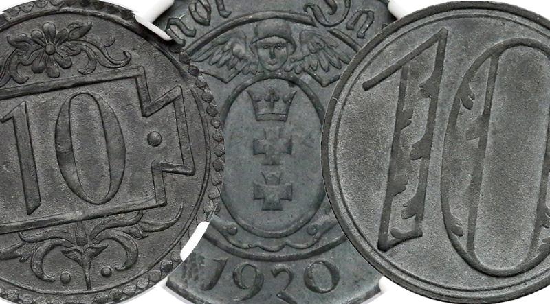 10 fenigów 1920 Gdańsk
