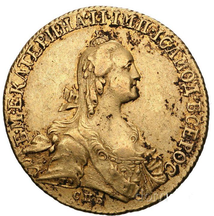 Rosja 10 rubli 1766 Katarzyna II