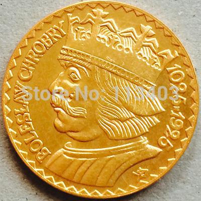 Awers fałszywej 10 złotych 1925 z Bolesławem Chrobrym