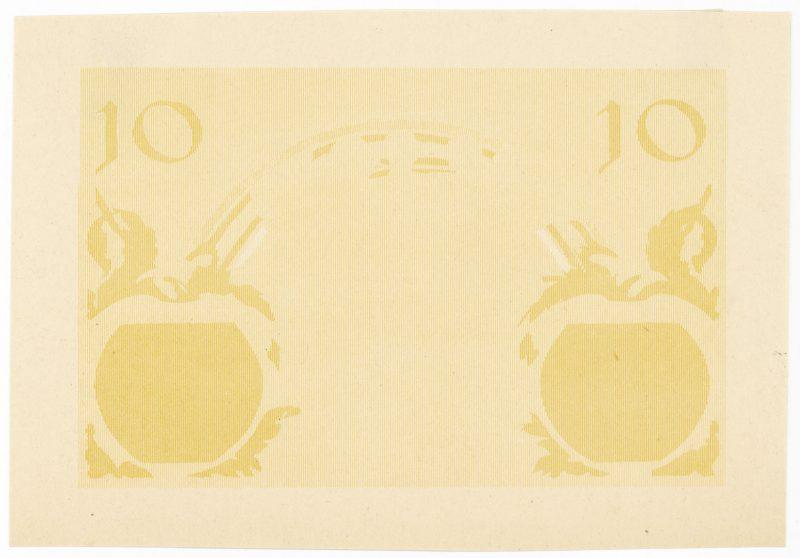 Próba kolorystyczna 12 banknotu 10 złotych 1926