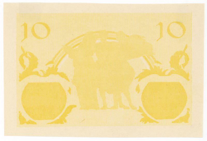 Próba kolorystyczna 13 banknotu 10 złotych 1926