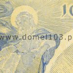 Detal próby kolorystycznej 2 banknotu 10 złotych 1926