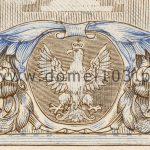Detal orła próby kolorystycznej 3 banknotu 10 złotych 1926