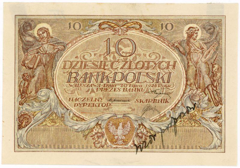 Próba kolorystyczna 4 banknotu 10 złotych 1926