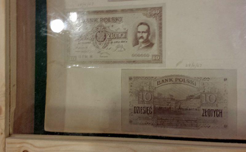 Projekt banknotu 10 złotych 1927 z Józefem Piłsudskim