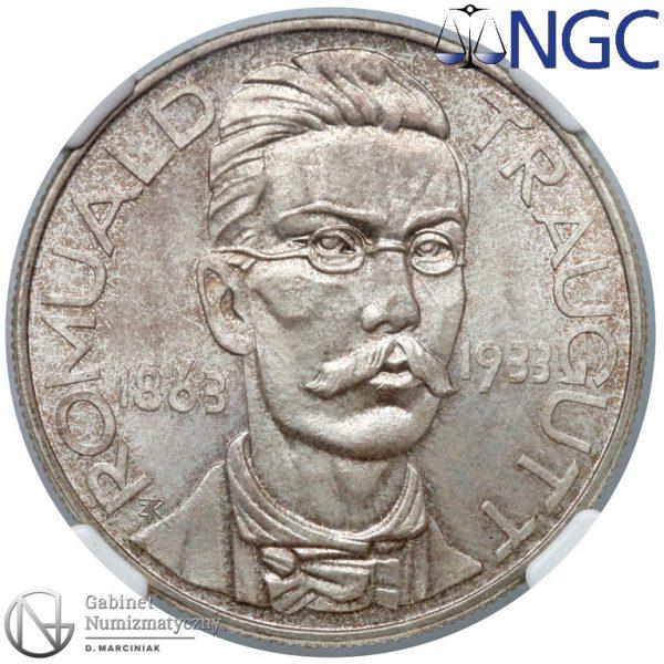 Rewers 10 złotych 1933 Traugutt w ocenie NGC MS65
