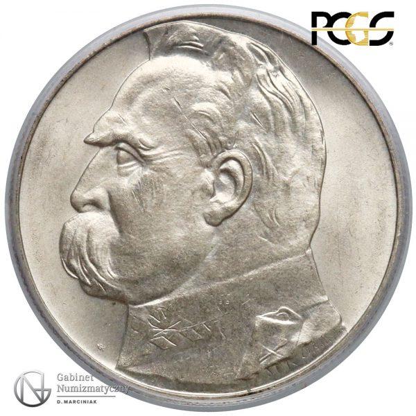 Rewers 10 złotych 1934 Piłsudski w ocenie PCGS MS65