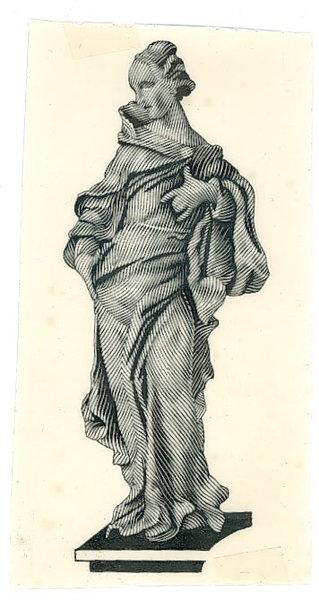 Szkic kobiety z awersu banknotu 10 złotych 1941 wersja 1