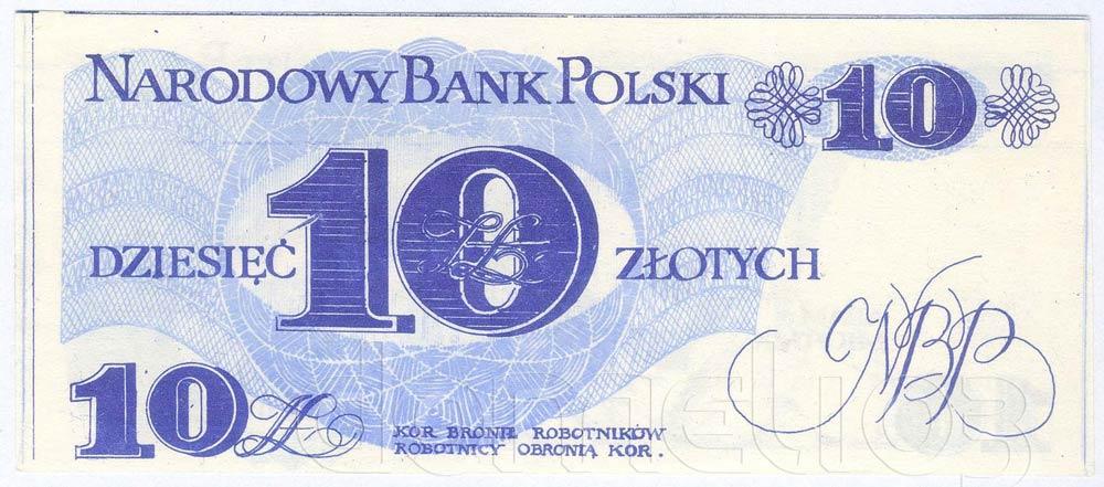 Rewers 10 złotych 1976 z Adamem Michnikiem
