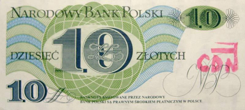10 złotych 1982 ze stemplem CDN
