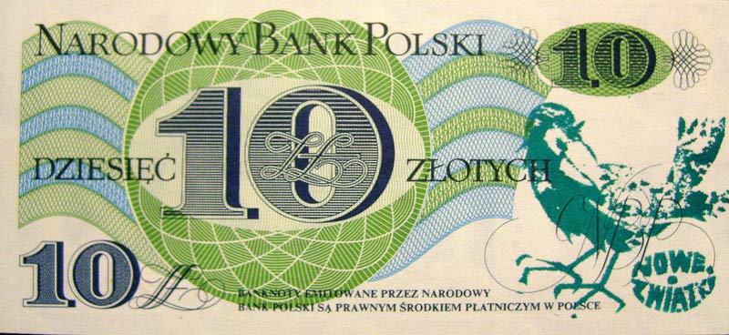 10 złotych 1982 ze stemplem nowe związki