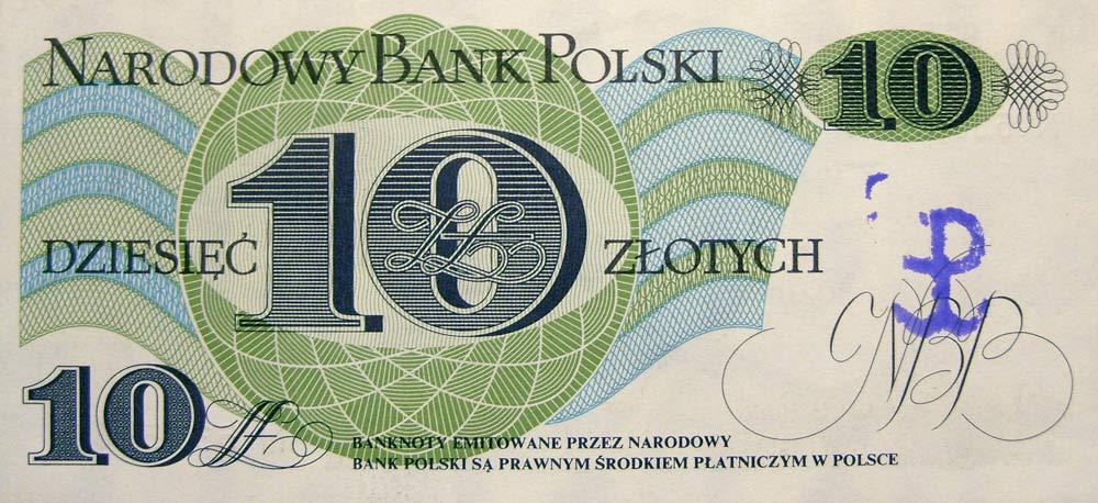 10 złotych 1982 ze stemplem Polska Walcząca