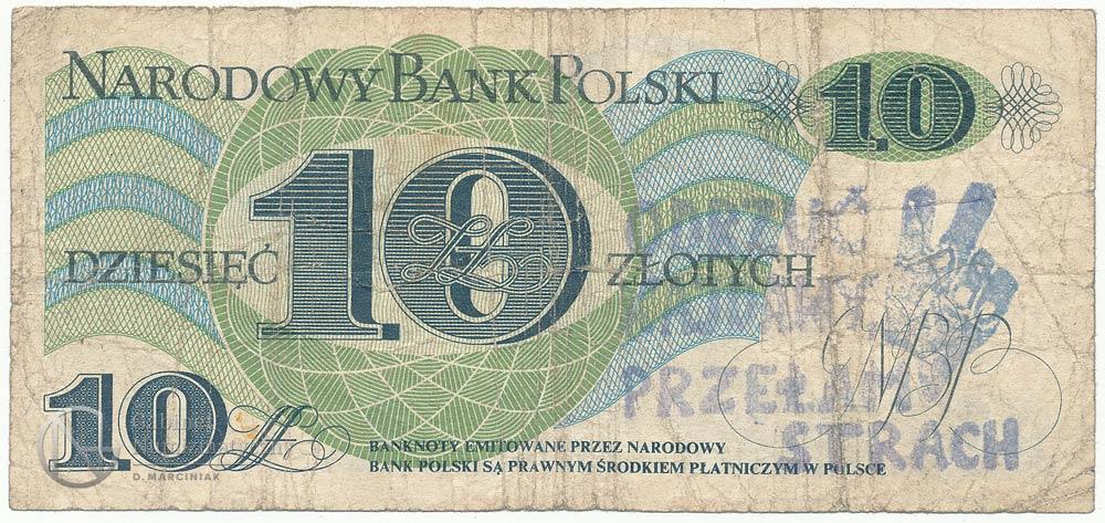 10 złotych 1982 ze stemplem przełam strach