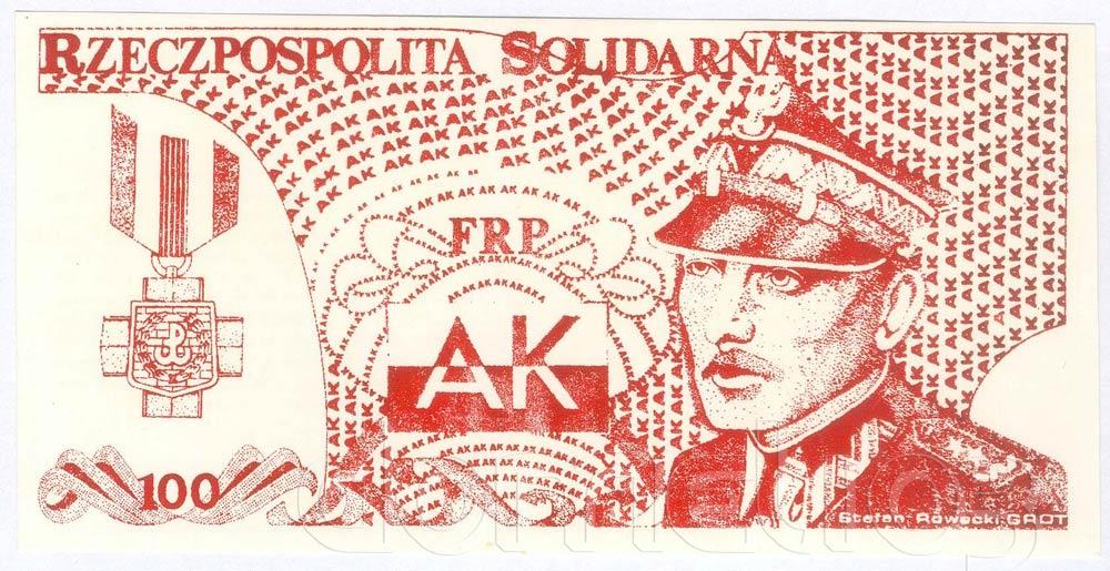 Awers 100 złotych 1985 ze Stefanem Roweckim GROT