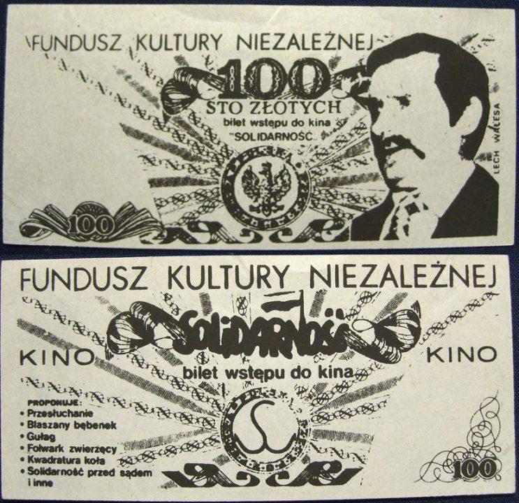 100 złotych Fundusz Kultury Niezależnej