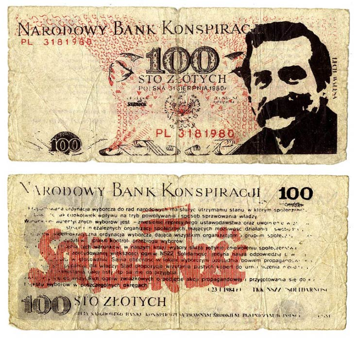 100 złotych Narodowy Bank Konspiracji