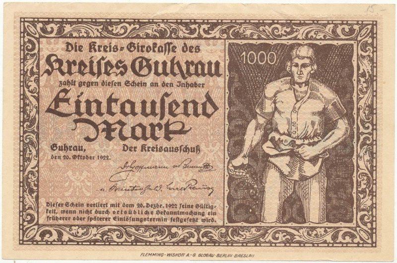 Notgeld 1000 marek 1922 powiatu Góry