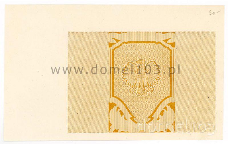 Nieukończony druk banknotu 1000 złotych 1945