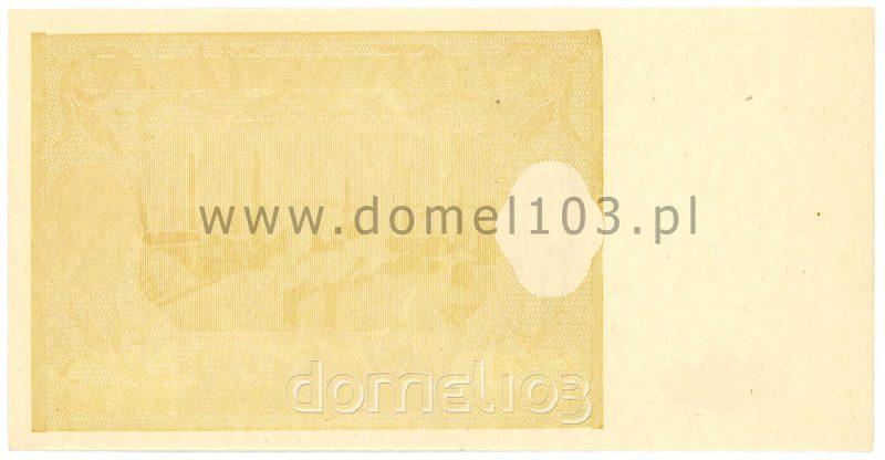 Pierwsza warstwa nieukończonego druku rewersu banknotu 1000 złotych 1946