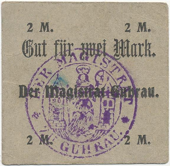 Notgeld 2 marki magistratu w Górze