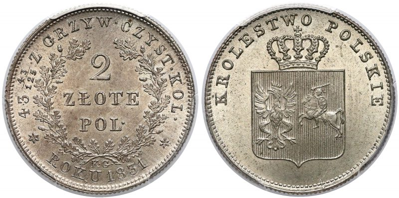 Królestwo Polskie 2 złote 1831 Powstanie Listopadowe