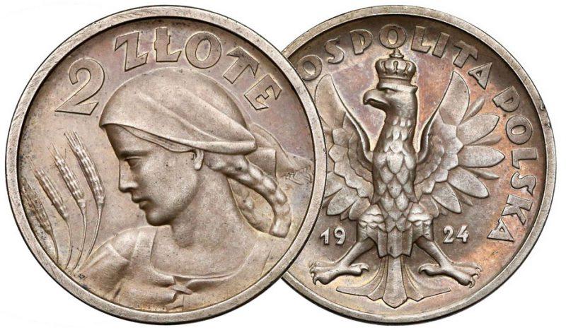 2 złote 1924 Żniwiarka