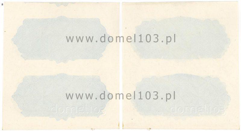 Nieukończony poddruk banknotu 2 złote 1944