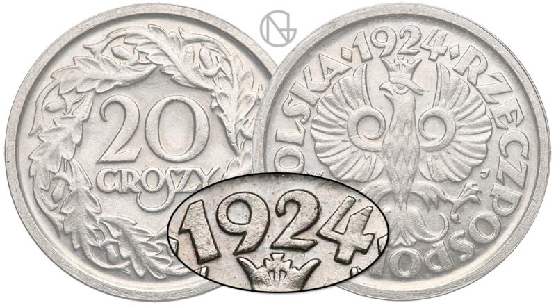 Unikalny rocznik 20 groszy 1924