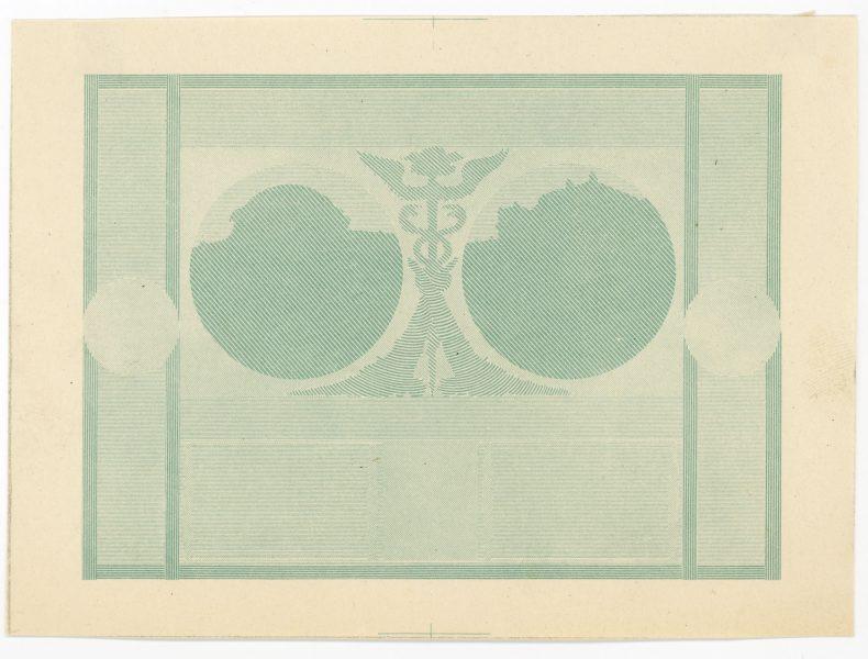 Próba kolorystyczna 6 banknotu 20 złotych 1926