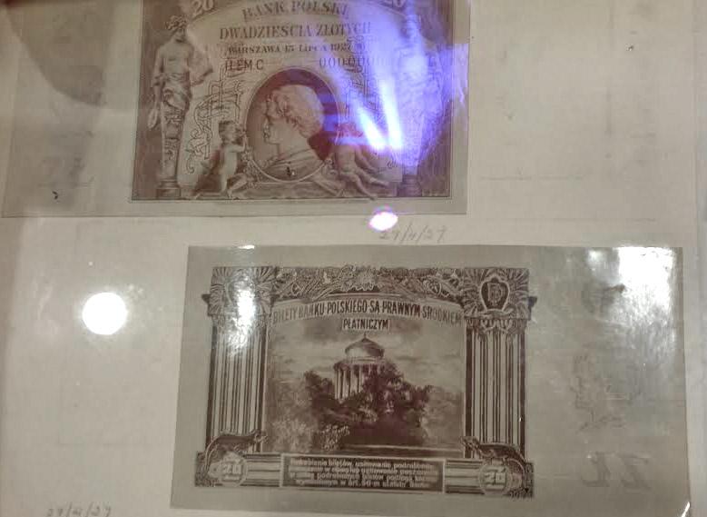 Projekt banknotu 20 złotych 1927 z Ignacym Janem Paderewskim