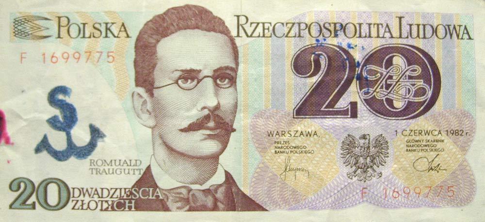20 złotych 1982 ze stemplem Solidarność Walcząca