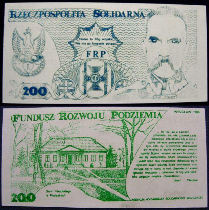200 Józef Piłsudski Fundusz Rozwoju Podziemia