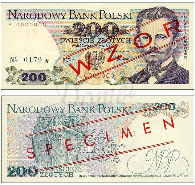 Wzór 200 złotych 1976 z Jarosławem Dąbrowskim